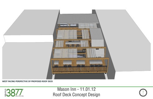 Mason Inn rooftop design