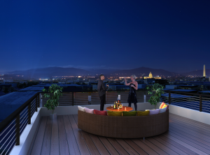 Penthouse deck, 2140 Wisconsin